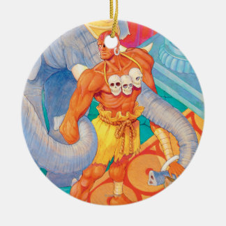 Dhalsim With Animals Ceramic Ornament