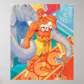 Dhalsim With Animals Print