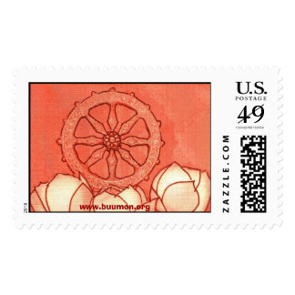 Dhamma-cakka and lotus stamps