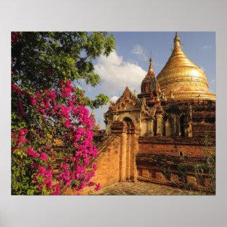 Dhamma Yazaka Pagoda at Bagan (Pagan), Myanmar Poster