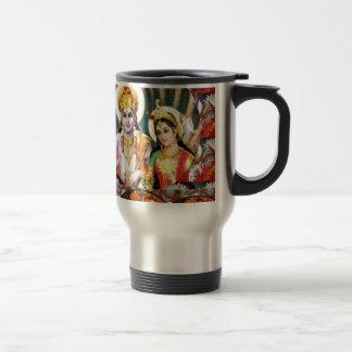 DHAN Laxmi n Lord Vishnu: for Display n Reference 15 Oz Stainless Steel Travel Mug