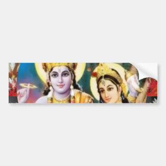 DHAN Laxmi n Lord Vishnu: for Display n Reference Car Bumper Sticker