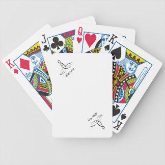 Dharma - estilo de lujo negro baraja de cartas