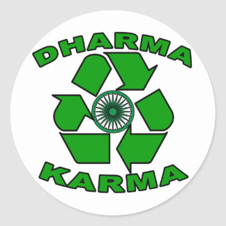 Dharma Karma Eco Design Classic Round Sticker
