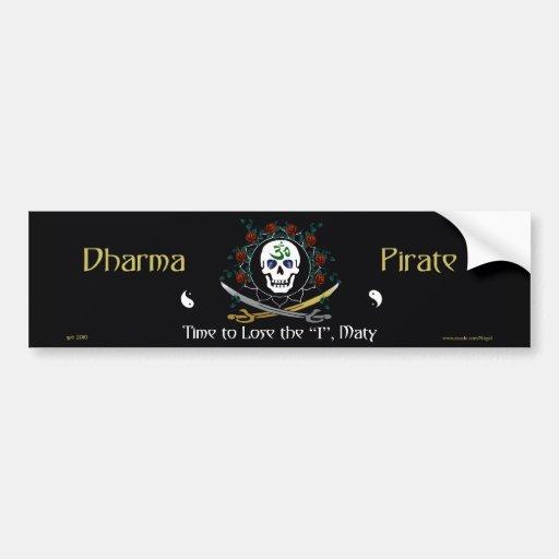 Dharma Pirate 2 Car Bumper Sticker