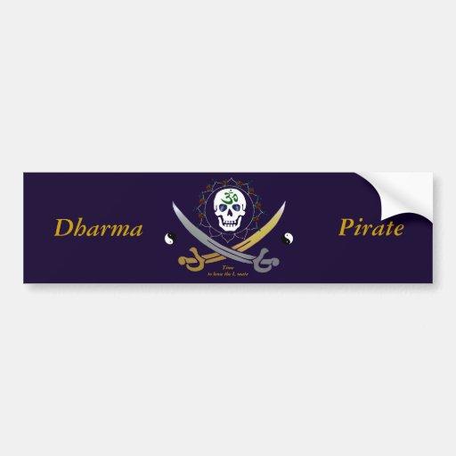 Dharma Pirate Bumper sticker                  ... Car Bumper Sticker