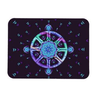 Dharma Wheel and Lotus Mandala Magnet