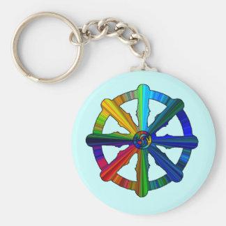Dharma Wheel Color Spectrum Keychain
