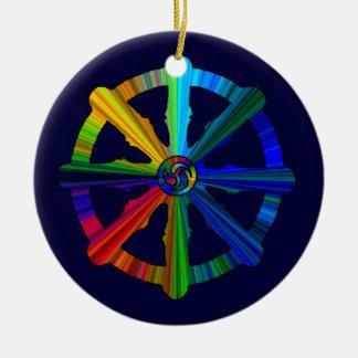 Dharma Wheel Color Spectrum Ornament