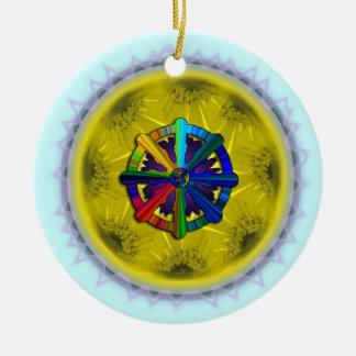Dharma Wheel Daisy Ornament