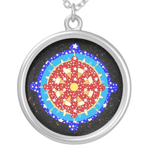 dharma wheel dharmachakra pendant necklace zazzle