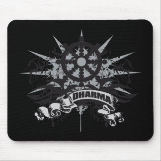Dharma Wheel Grunge Mouse Pad