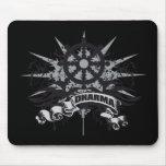 Dharma Wheel Grunge Mousepad