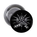 Dharma Wheel Grunge Pinback Button