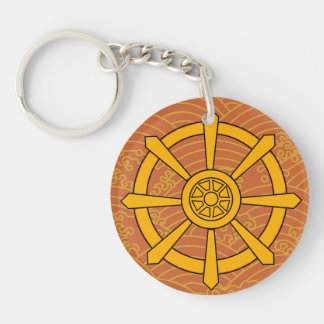 Dharma Wheel Acrylic Key Chains