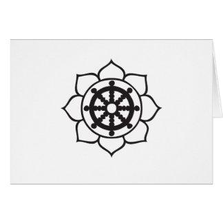 Dharma Wheel Lotus Greeting Card