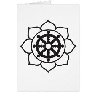 Dharma Wheel Lotus Card