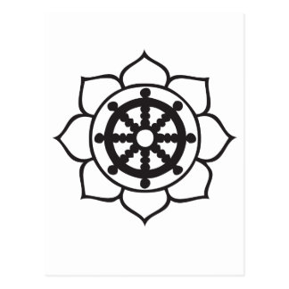 Dharma Wheel Lotus Postcards