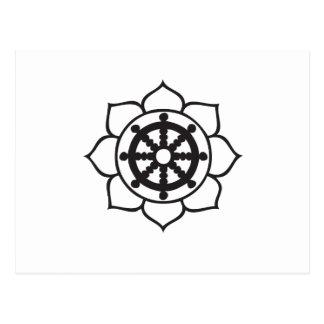 Dharma Wheel Lotus Post Card
