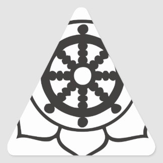 Dharma Wheel Lotus Triangle Sticker