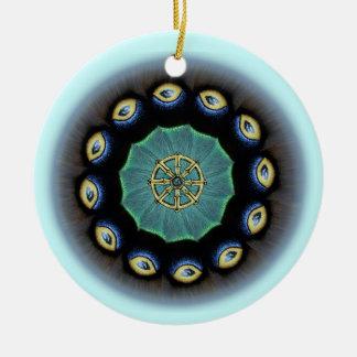 Dharma Wheel Mothwing Ornament