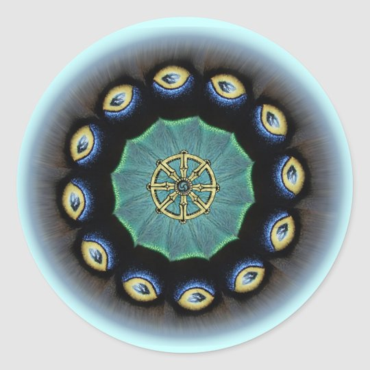 Dharma Wheel Mothwing Stickers