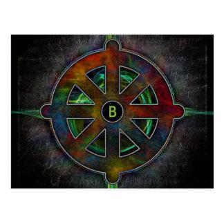 Dharma Wheel of Spirit Energy Postcard