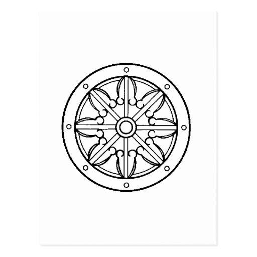 Dharma Wheel Post Card