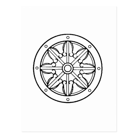 Dharma Wheel Postcard