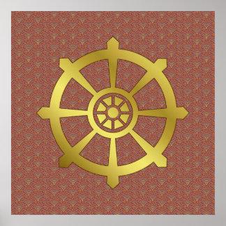 Dharma Wheel Poster