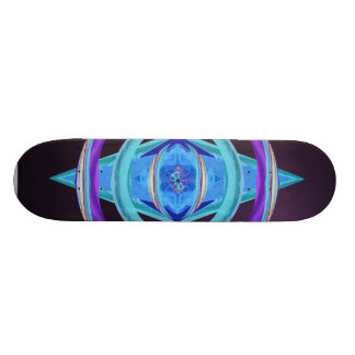 Dharma Wheel Purple & Blue Abstract Deci Skateboard