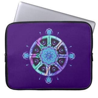 Dharma Wheel Purple & Blue Laptop Sleeve