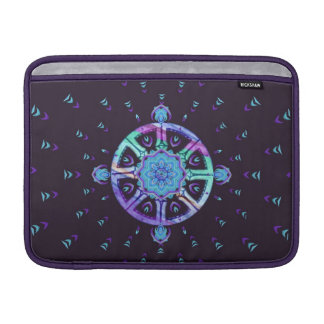 Dharma Wheel Purple & Blue MacBook Air Sleeve