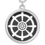 Dharma Wheel Round Pendant Necklace