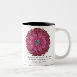 Dharma wheel symbol Two-Tone coffee mug