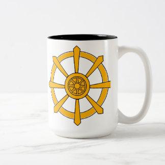 Dharma Wheel Two-Tone Coffee Mug