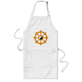 Dharma Wheel Yin Yang Gift Long Apron