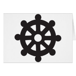 "Dharmacakra, Dharmachakra, ""Wheel of Dharma"" Card"