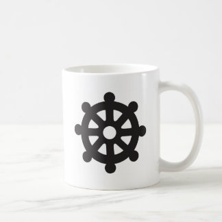 "Dharmacakra, Dharmachakra, ""Wheel of Dharma"" Classic White Coffee Mug"