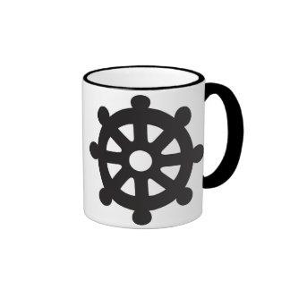 "Dharmacakra, Dharmachakra, ""Wheel of Dharma"" Ringer Coffee Mug"