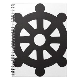 """Dharmacakra, Dharmachakra, """"Wheel of Dharma"""" Notebook"""