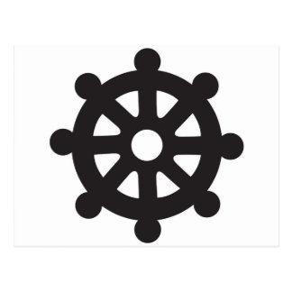 "Dharmacakra, Dharmachakra, ""Wheel of Dharma"" Postcard"