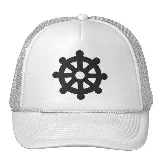 "Dharmacakra, Dharmachakra, ""Wheel of Dharma"" Trucker Hat"