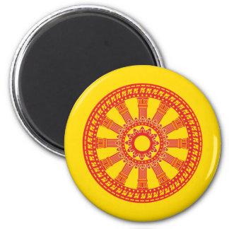 Dharmacakra - (Thailand) Design 2 Inch Round Magnet