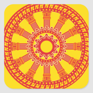 Dharmacakra - (Thailand) Design Square Sticker