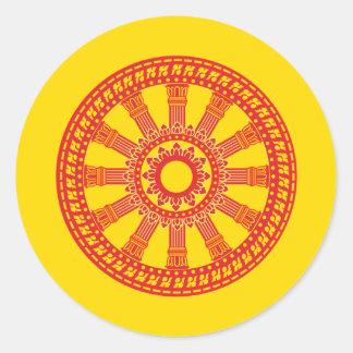 Dharmacakra - (Thailand) Design Round Stickers