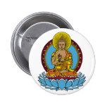 Dharmachakra Buddha 2 Inch Round Button