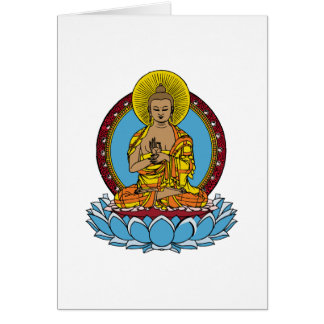 Dharmachakra Buddha Card