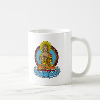 Dharmachakra Buddha Classic White Coffee Mug