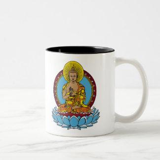 Dharmachakra Buddha Two-Tone Coffee Mug